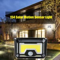 154 LED Solar Lamp Outdoor Garden Yard Waterproof PIR Motion Sensor Light 3 Mode