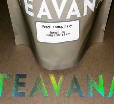 NEW! RARE Teavana 🍑🍊🍑 Peach Tranquility 🌈 Herbal 8oz Factory Sealed Tea Bag