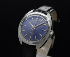 New Old Stock 1967 LONGINES CONQUEST mechanical vintage watch 706 mvt. blue dial