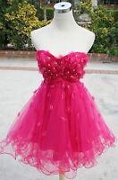 NWT ALEX & SOPKIA $180 Fuchsia Cocktail Prom Dress 7
