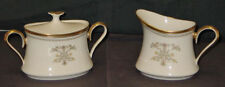 DISCONTINUED LENOX CHINA CASTLE GARDEN CREAM & COVERED SUGAR SET NEW