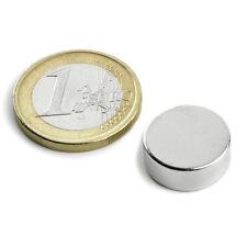 Super Magnete Disco al Neodimio dimens. 15 x 5 mm Potenza 4,5 Kg. Magnetoterapia