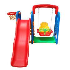 Bambini Da Giardino Parco Giochi 3 in 1 altalena scivolo Basket Arrampicata Garden Fun Cool