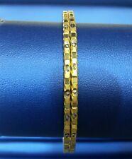 Gold Bangle Pair 22k in Diamond Cut In Two Tone Polish