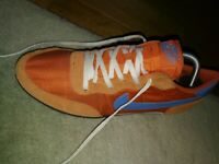 2008 Nike Zoom Waffle Racer UK 8 Orange blueRare DEADSTOCK Vintage oi polloi lot