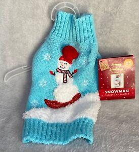 Christmas - Dog Jumper - Snowman Design - Extra Small - Brand New