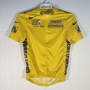 Nike Le Tour De France 2005 Credit Lyonnais Cycling Jersey Yellow Men's Medium