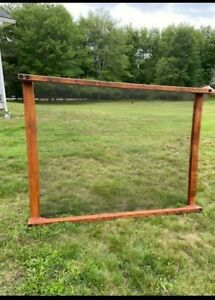 Antique Full Size Double Bed Frame T. F Foss & Sons 1800's Wooden Woven Metal