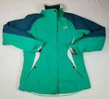 The North Face Green 3 in 1 Triclimate Jacket Women's L Coat HyVent Fleece Liner