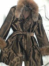 ESCADA Luxus Mantel/ Coat, mit Seide; Blaufuchs Pelz, Gr. 36 TOP!