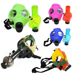 Breathable Soft Silicon Gas Mask Bong Hookah Smoking Pipe Bongs Adjustable Belt