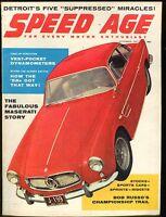 Speed Age Magazine November 1957 Maserati EX No ML 011117jhe