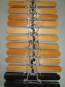 Wooden clamp pant/skirt hangers  lot of 12