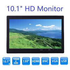 "10"" TFT LCD Display Monitor VGA BNC Audio HDMI Video For PC Security"