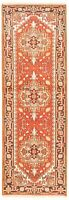 "Vintage Hand-Knotted Carpet 2'6"" x 7'10"" Traditional Oriental Wool Runner Rug"