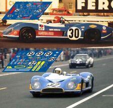 Decals Matra MS650 Le Mans 1970 30 32 1:32 1:43 1:24 1:18 calcas