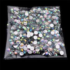 1000Pcs 4mm Crystal AB Non Hotfix FlatBack Rhinestones Beads DIY Nail Art Decor