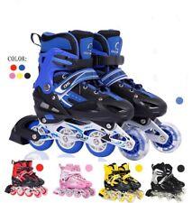 Kinder Rollschuhe S/M Inlineskater Inliner Schuhe Verstellbar blinkend schuhe