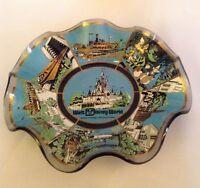 Vintage Walt Disney World Candy Dish/Ash Tray/Plate Glass 1970's