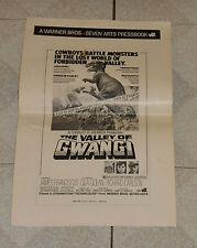 original THE VALLEY OF GWANGI PRESSBOOK Ray Harryhausen dinosaur