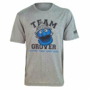 """Brainstorm Gear Sesame Street TEAM GROVER """"Faster Than Lightning!"""" Tech Shirt"""