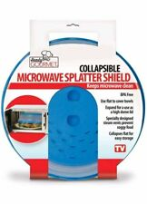 Pieghevole a MICROONDE Splatter SCUDO cibo copertura vent ventilato PIASTRA pulita Blu