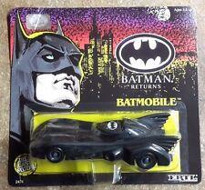 """1992 ERTL BATMAN RETURNS Die Cast 1:24 Metal BATMOBILE 5.5"""" - Carded"""