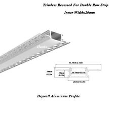 Hanks62X14mm Trimless Recessed Aluminum Drywall Profile Channel Inner Width 20mm