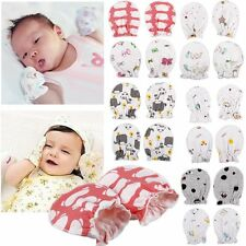 2pairs Newborn Baby Infant Anti Scratch Mittens Gloves Soft Cotton Handguard
