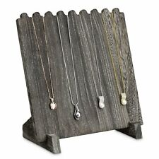 Dark Oak Stained Wooden Necklace Chain Jewelry Display Stand 9 38 X 5 12x 10