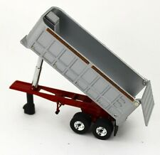 NEW 1:64 First Gear *SILVER & RED* 22' Tandem Axle DUMP TRAILER works w/DCP