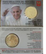 ** Coincard 2014 Vaticaan Vatikan Vatican Vaticano City Coincard No.5 50 cents**