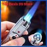 Jobon Triple Jet Gas Torch Lighter 3 Flame Metal Cigar Turbo Windproof Powerful