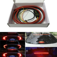 Car Rear Windshield Red LED High Mount Brake Tail Light Sequential Strip 12V DC