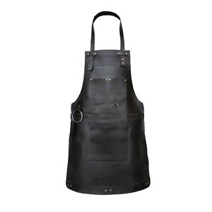 Chocolate Real Leather Apron Butcher Apron - Cook Apron -BBQ Apron Apron Gift A2
