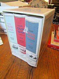 Shelby Foote The Civil War 3 Vol Set Random House Case 1 NM 2 jackets lil damage