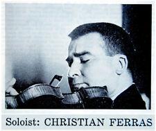 1969 Photo CHRISTIAN FERRAS Program VIOLIN CONCERT Handel RAVEL Shostakovich