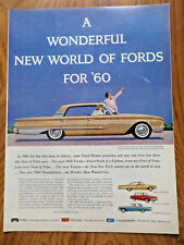 1960 Ford Galaxie 500 Starliner Sunliner Falcon Country Sedan Wagon Ad