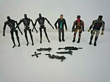 """6 VINTAGE TERMINATOR 4"""" FIGURES WITH SOME WEAPONS / PLAYMATES / T700"""