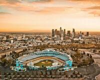 DODGER STADIUM Photo Picture LOS ANGELES DODGERS LA City Skyline Dusk 8x10 11x14