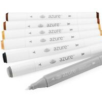Royal and Langnickel - Azure Artist Markers - Dual Tip - Rustic Set of 6