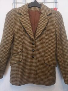 """34"""" CHEST - ADULT LADIES SPINNEY BROWN/GREEN COUNTRY HACKING JACKET"""