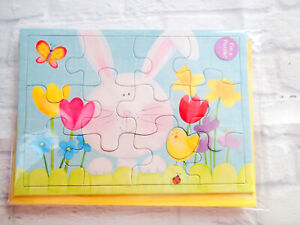 Easter Card PUZZLE Bunny Flowers American Greeting