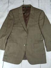 Jos A Bank SIGNATURE COLLECTION 100% Wool Brown windowpane Plaid Blazer 41R
