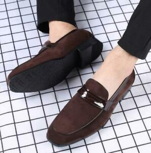 Mens New Suede Loafers Slip-on Casual Workwear Pumps Flat Comfort Shoes Business