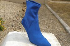 Cecelia New York 'Emmie' Suede Lucite Heeled Boot Size [8]
