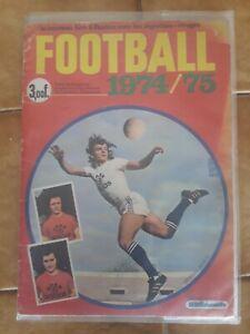 60 vignettes différentes football 1974/1975 agéducatifs + pochette offerte