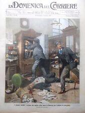 La Domenica del Corriere 6 Ottobre 1907 Rapina Contadini Bari San Marco Fantoni