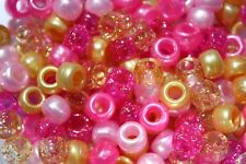 Indian Summer Pony Bead Mix 9mm x 6mm - Choose your pack size - USA Made