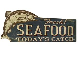 Ragon House Fish Seafood Wall sign Primitive French Country